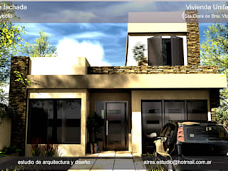 Casa Dosau: Casas de estilo  por A TRES ESTUDIO