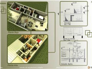 Casa Dosau:  de estilo  por A TRES ESTUDIO