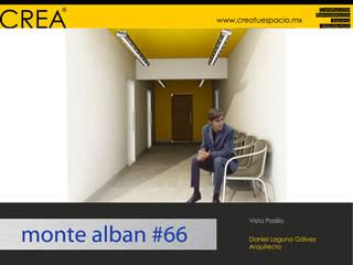 Monte Albán #66 Pasillos, vestíbulos y escaleras modernos de CREATUESPACIO.MX Moderno