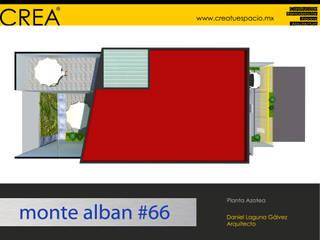 Monte Albán #66: Casas de estilo moderno por CREATUESPACIO.MX