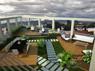 Terrazza in stile  di JELKH Design Architects s.a.s