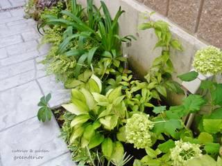 アイアンを使った門まわりとアプローチ、庭のリフォーム クラシカルな 庭 の 株式会社グリーンテリア クラシック