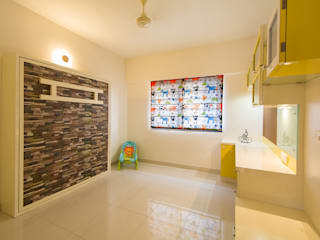 A residence for Mr.Nitin Warrier at Blue Ridge ,Hinjewadi ,Pune Navmiti Designs Nursery/kid's roomBeds & cribs