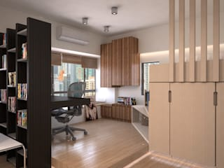 Modern study/office by Nelson W Design Modern