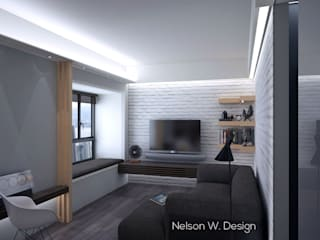 The Long Beach | Hong Kong:  Living room by Nelson W Design