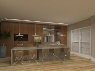 Projeto PI-MC Salas de jantar modernas por Dantas Arquitetura Moderno