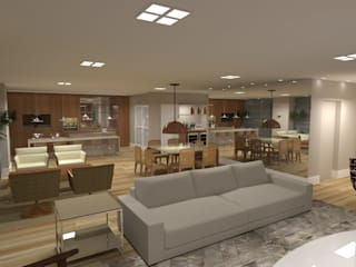 Projeto PI-MC Salas de estar modernas por Dantas Arquitetura Moderno