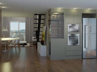 Projeto PI-FB Corredores, halls e escadas modernos por Dantas Arquitetura Moderno