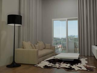 Projeto PI-FB Salas de estar modernas por Dantas Arquitetura Moderno