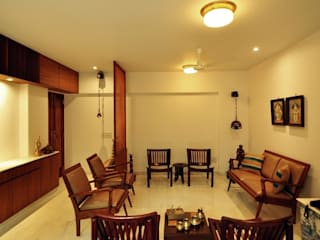 Residence, Powai Modern living room by Studio Pomegranate Modern