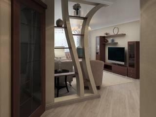 ДизайнМастер Ruang Keluarga Klasik Kayu Beige