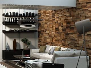 Ruang Keluarga Modern Oleh Pracownia Wnętrz Modern