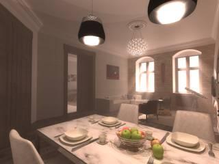 Projekt mieszkania w kamienicy: styl , w kategorii Salon zaprojektowany przez BMP Studio Architektoniczne