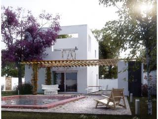 Casa OSK (Contacto 54 11 6278 0628 arqnahueleliasgmail.com) Casas modernas: Ideas, imágenes y decoración de EN arquitectura Moderno