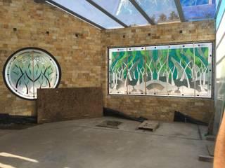 Vitrales Emplomados para Jardín Interno:  de estilo  por Vitrales Emplomados Vidrio y Plomo