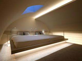 غرفة نوم تنفيذ 藤村デザインスタジオ / FUJIMURA DESIGIN STUDIO