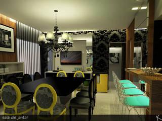 RESIDÊNCIA A|A Salas de jantar clássicas por Karen Paranhos Interiores Clássico