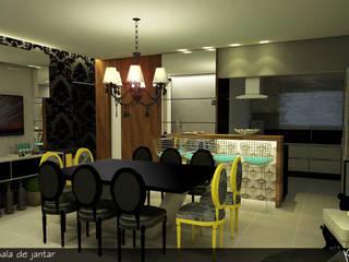 RESIDÊNCIA A|A Salas de jantar modernas por Karen Paranhos Interiores Moderno