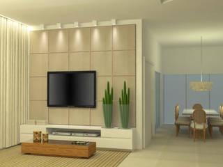 RESIDÊNCIA N|V Salas de estar modernas por Karen Paranhos Interiores Moderno
