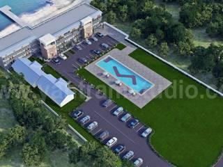 Aerial View of 3D Resort Exterior Architectural Design Klasik Oteller Yantram Architectural Design Studio Klasik