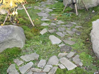 安曇野K邸 庭のクニフジ Modern garden