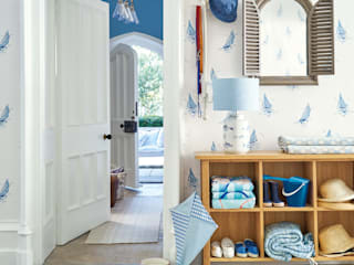 Laura Ashley Decoración Mediterranean corridor, hallway & stairs Blue
