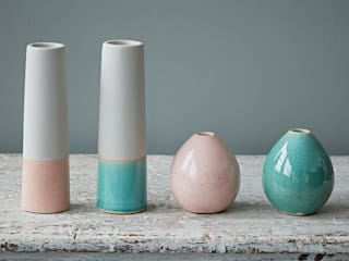 Pastel Vases by House Doctor: eclectic  by rigby & mac, Eclectic Ceramic
