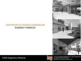 Ampliación Vivienda A.O.: Casas de estilo  por HG Arquitectura