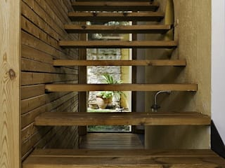 Modern Corridor, Hallway and Staircase by NOEM Modern