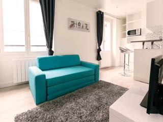 Rue Saint Maur - Investissement locatif dans le 11ème arrondissement: Salon de style de style Moderne par Investissement-locatif.com
