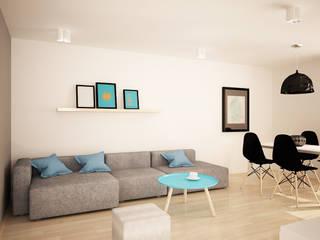 Projekt mieszkania: styl , w kategorii Salon zaprojektowany przez InDecor Agnieszka Ligęza