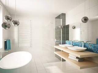 Projekt mieszkania: styl , w kategorii Łazienka zaprojektowany przez InDecor Agnieszka Ligęza