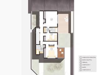 Planta alta:  de estilo  por A3 estudio arquitectura