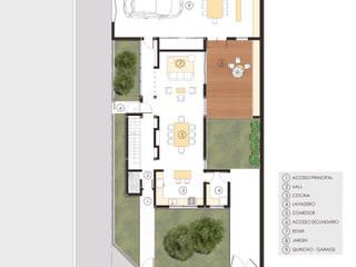 Planta baja:  de estilo  por A3 estudio arquitectura