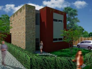 Imagen desde la esquina:  de estilo  por A3 estudio arquitectura