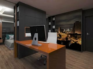 Ruang Studi/Kantor Modern Oleh .Villa arquitetura e algo mais Modern