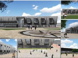 Requalificar espaços urbanos Espaços de restauração modernos por Adequar - Desenho Universal Moderno