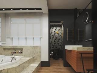 Kamar Mandi Modern Oleh .Villa arquitetura e algo mais Modern