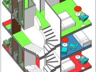 spazi dell'abitare Ingresso, Corridoio & Scale in stile moderno di Studio Tecnico Atorino Moderno