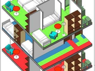 spazi dell'abitare: Ingresso & Corridoio in stile  di Studio Tecnico Atorino