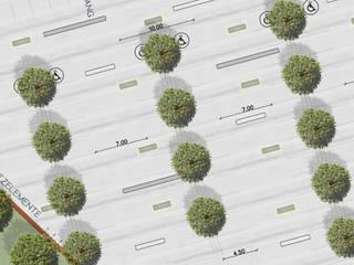 ZAGOSPODAROWANIE PARKINGU - BERLIN, NIEMCY: styl , w kategorii  zaprojektowany przez GRUNT STUDIO Agnieszka Kachel-Stępniewska