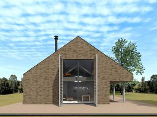 Schuurwoning Ommen:  Huizen door Koezen Architecten, Minimalistisch