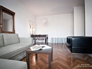 mieszkanie krowodrza Nowoczesny salon od PRACOWNIA PROJEKTOWA JAGANNA Nowoczesny