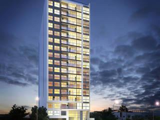 Rendering - Edificio Cosmopolita - URBANA PERU:  de estilo  por FABRE STUDIO