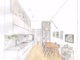 Cucina in centro Cucina eclettica di Alexandra Michelozzi architetto Eclettico