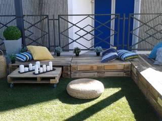 salon de jardin : Jardin de style de style eclectique par amour de palette création