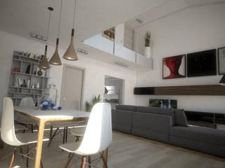 Loft BL 01: Soggiorno in stile in stile Moderno di Ivan Rivoltella