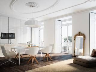 Apartamento en Lisboa - Cocina Cocinas de estilo moderno de Berga&Gonzalez - arquitectura y render Moderno