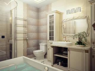 Проект 2х этажного дома в Курске: Ванные комнаты в . Автор – Инна Михайская,