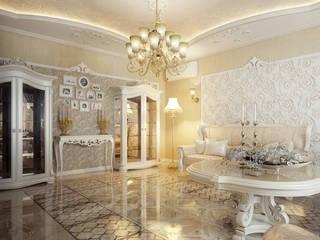 Проект 2х этажного дома в Курске-2: Гостиная в . Автор – Инна Михайская,